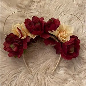 Custom Floral Minnie Ears